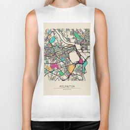 Colorful City Maps: Arlington County, Virginia Biker Tank