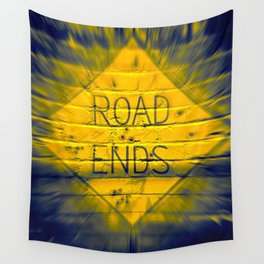 The Road Ends Wall Tapestry