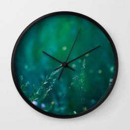 Fairy Tail - Flower on the Water - Magic Grass Wall Clock