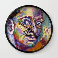 salvador dali Wall Clocks featuring salvador dali by yossikotler