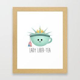 Lady Liber-tea Framed Art Print