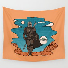 """""""Mando and The Child in the Canyon"""" by Doodle by Meg Wall Tapestry"""