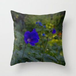 Summer Purple flowers Throw Pillow