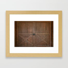 Brown Door Framed Art Print