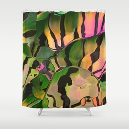 Vegetarian Zebra Shower Curtain
