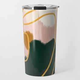 Abstract in mangosteen Travel Mug