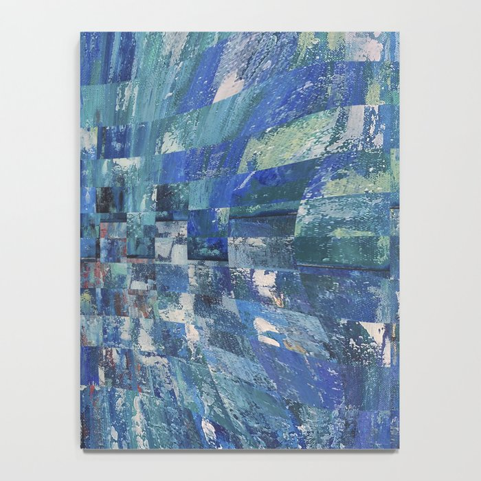 Abstract blue pattern 5 Notebook