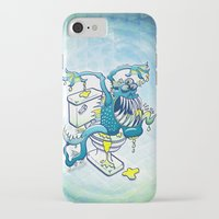 toilet iPhone & iPod Cases featuring Toilet Monster by Zoo&co on Society6 Products