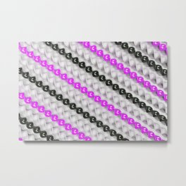 White, black and purple spirals Metal Print