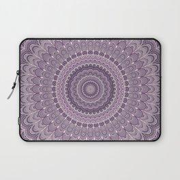 Purple feather mandala Laptop Sleeve