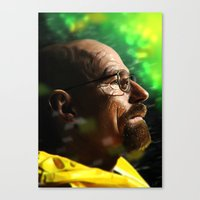 walter white Canvas Prints featuring Walter by Chris Ham