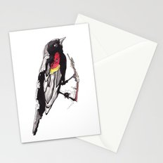Red Winged Black Bird Stationery Cards