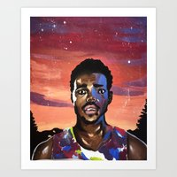 chance the rapper Art Prints featuring Chance the Rapper by Mackenzie Mauro