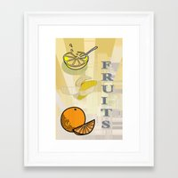 fruits Framed Art Prints featuring Fruits by LoRo  Art & Pictures