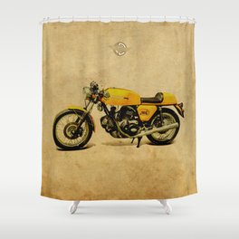 750 GT 1973 classic motorcycle Shower Curtain