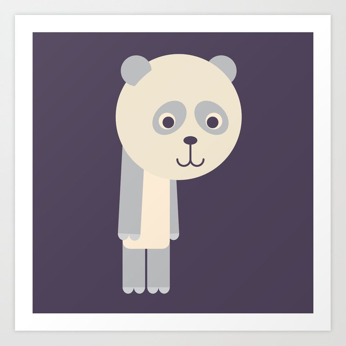 Letter P // Animal Alphabet // Panda Monogram Art Print
