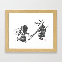 Naginata Sumi-E by Takemi Framed Art Print