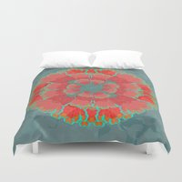 poppies Duvet Covers featuring Poppies by Imagology