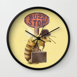 Worker Bee (colour option) Wall Clock