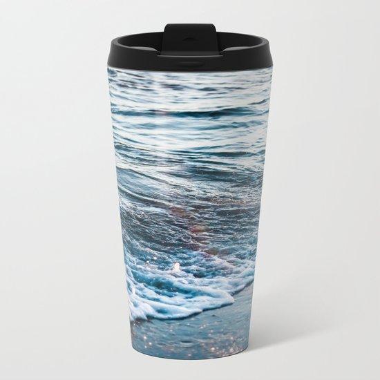 Beautiful ocean waves Metal Travel Mug