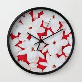 Scattered Jasmine Wall Clock