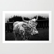 Skull Cow Art Print