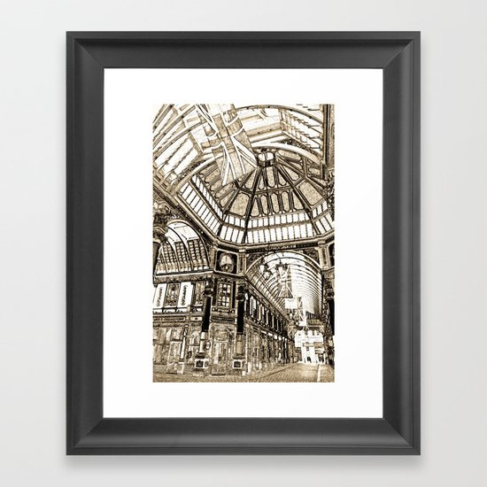 Leadenhall Market London Framed Art Print
