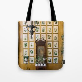 A Wall of Orchids, Merida, Mexico Tote Bag