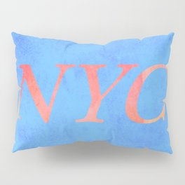 New York Print Pillow Sham