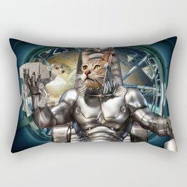Robot Space Cat Rectangular Pillow