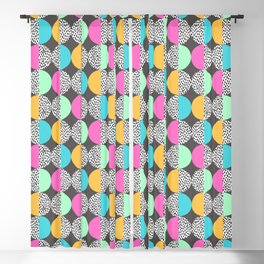 Pastel Shades Memphis Circles Pattern Blackout Curtain