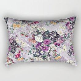 Botanical Flowers Purple Rectangular Pillow