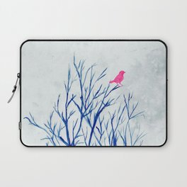 Perching bird on winter tree Laptop Sleeve