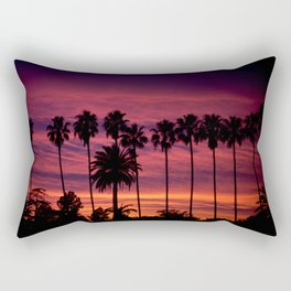 Sunset over Hollywood Rectangular Pillow