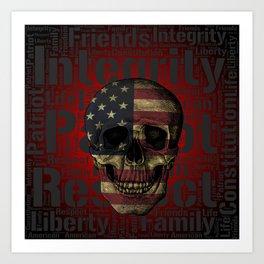 Passionate Patriot Art Print