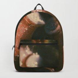 Nature patterns, octopus tentacles, macro photo, kitchen decor, fish restaurant, nature textures Backpack