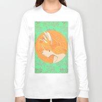 redhead Long Sleeve T-shirts featuring Redhead girl by Serhiy FE