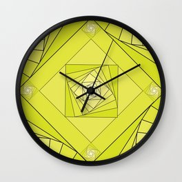 green rombus 1 abstraction Wall Clock