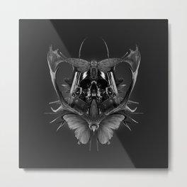 Skull Rorschach Metal Print