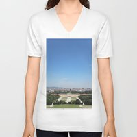 vienna V-neck T-shirts featuring Vienna - Cityscape by Andrew Schmidt