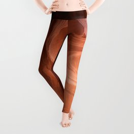 Antelope Canyon Reddish And Blue Tones Leggings