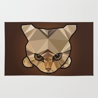 kitten Area & Throw Rugs featuring Kitten  by Angel Decuir