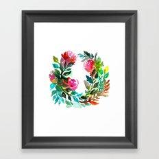 Rose Wreath Framed Art Print