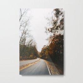 Autumn Roads Metal Print