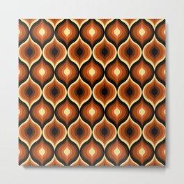 Brown Eye Abstract Pattern Metal Print
