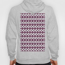 Abstract geometrical burgundy pink watercolor tribal pattern Hoody