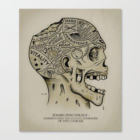 Zombie Phrenology Canvas Print