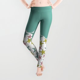 starfish tropical print Leggings