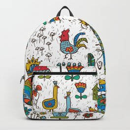 Swedish Folk Art Goose Fable Backpack
