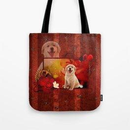 Sweet golden retriever Tote Bag